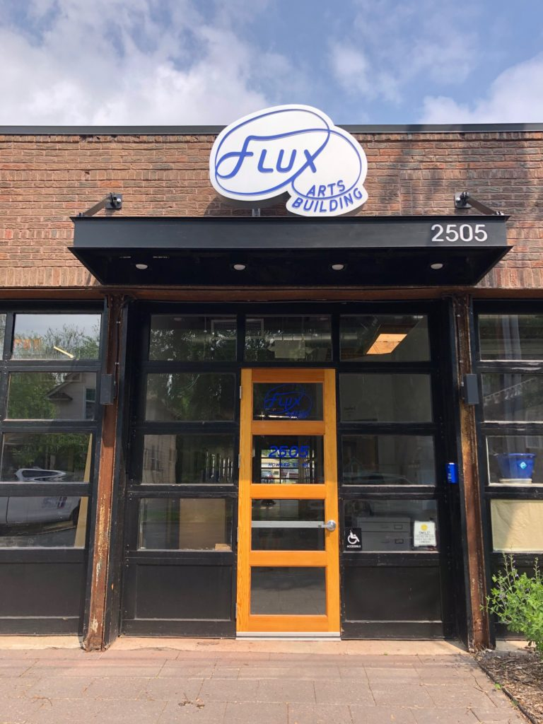 Flux Arts Building Entry on Howard St NE